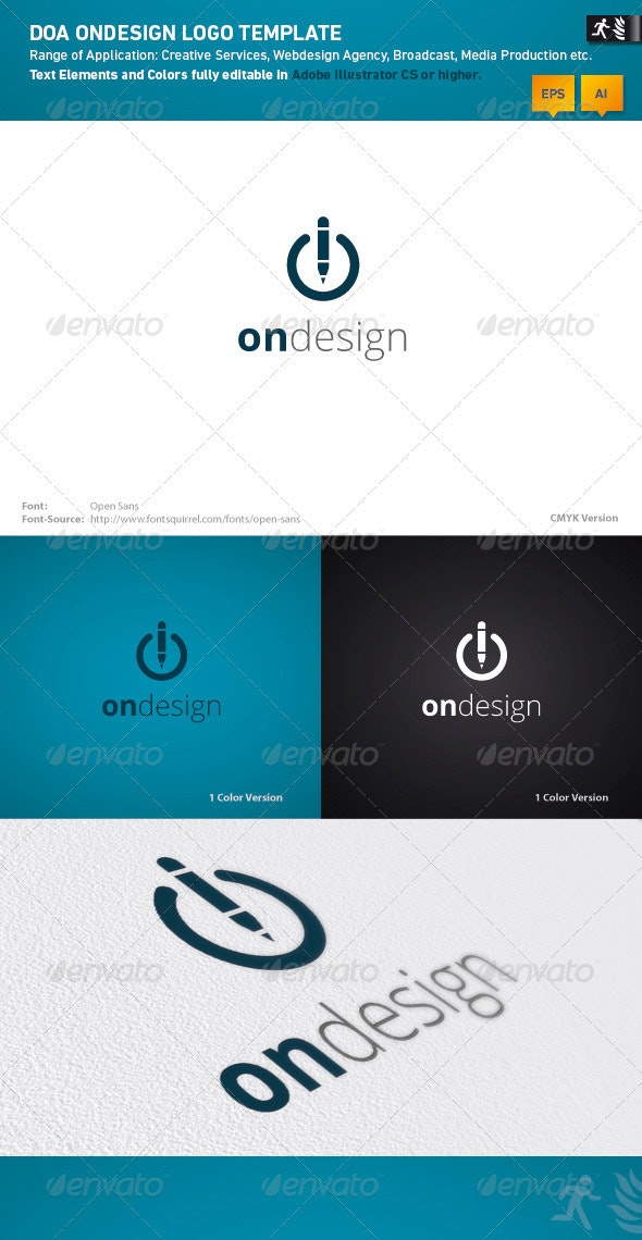 DOA OnDesign Logo Template - Symbols Logo Templates