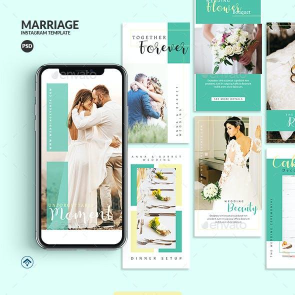 Marriage - Wedding Event Instagram Stories Template