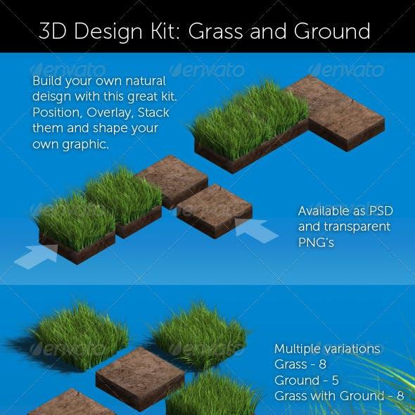 3D Design Kit: Grass & Ground