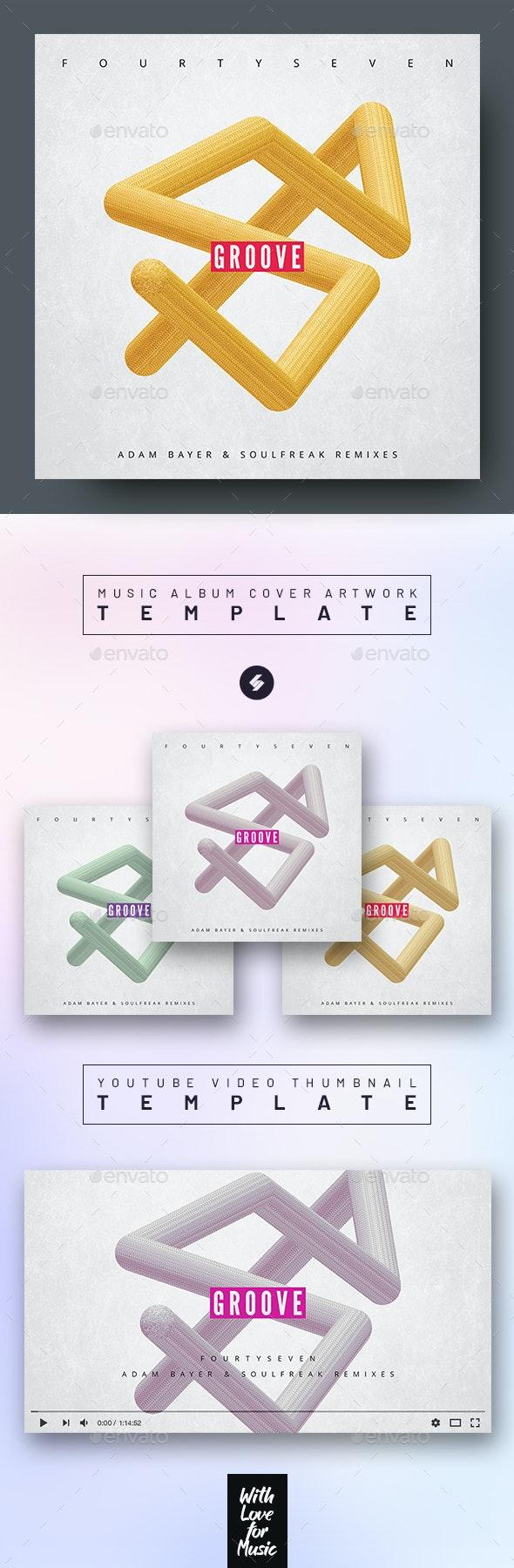 Groove – Music Album Cover Artwork Template - Miscellaneous Social Media