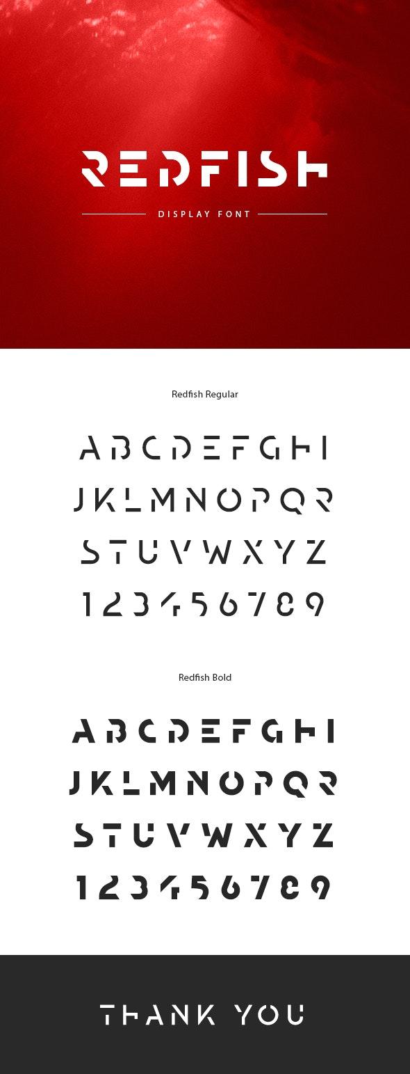 Redfish Display Font - Futuristic Decorative