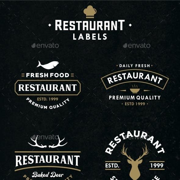 Restaurant Labels Vol. II