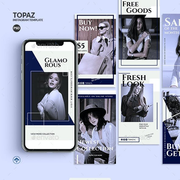 Topaz - Fashion Instagram Stories Template