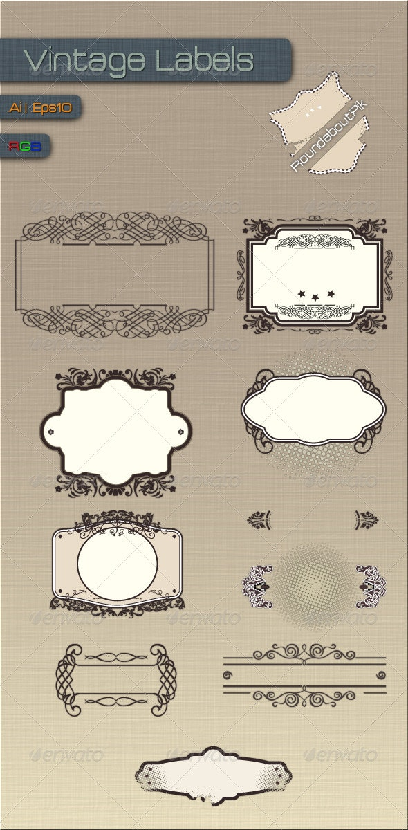 Vintage Labels - Decorative Vectors