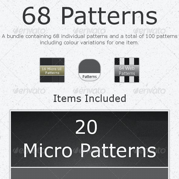 68 Tileable Patterns - Bundle