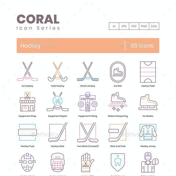90 Hockey Icons - Coral Series