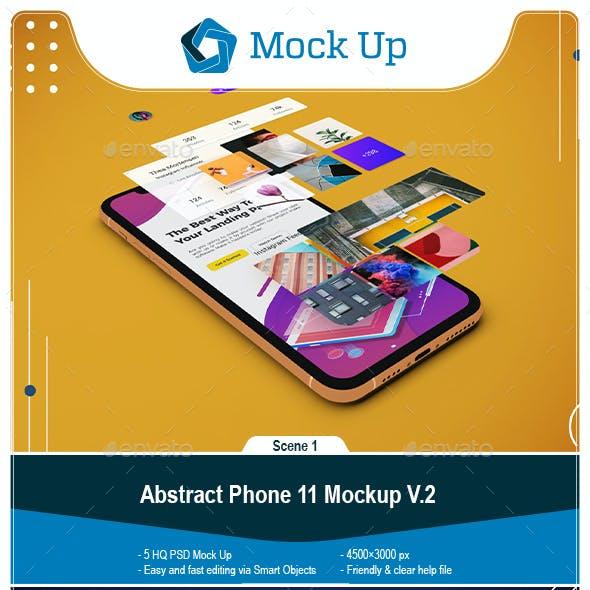 Abstract Phone 11 Mockup V.2