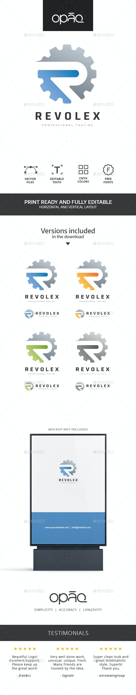 R Letter Gear Logo - Letters Logo Templates