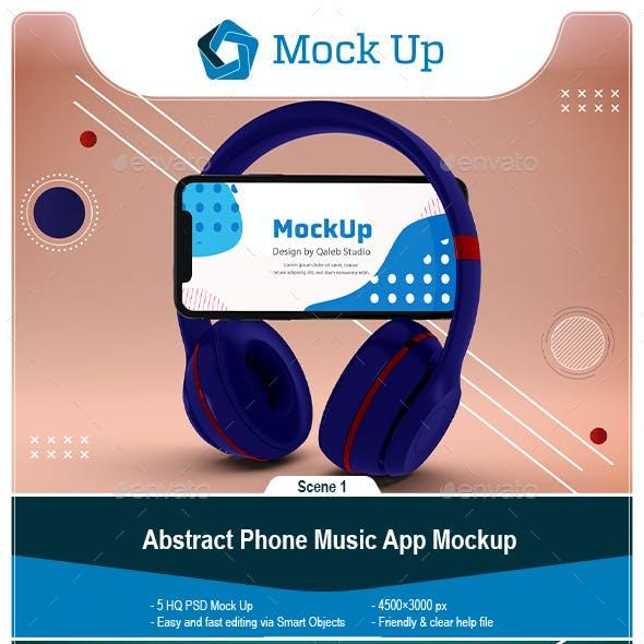 Abstract Phone Music App Mockup
