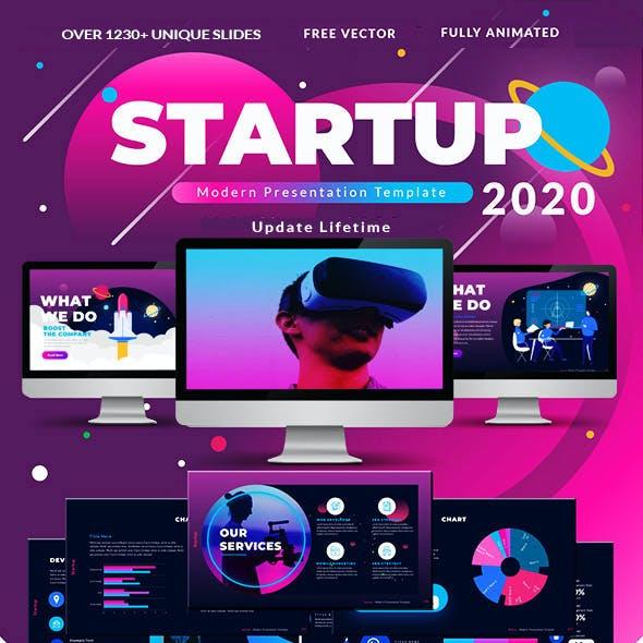 2021 Startup & Multipurpose Premium The Best Pitch Deck Google Slide Presentation Template