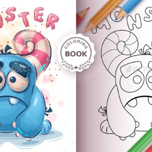 Monster Coloring Book for Kid and Children