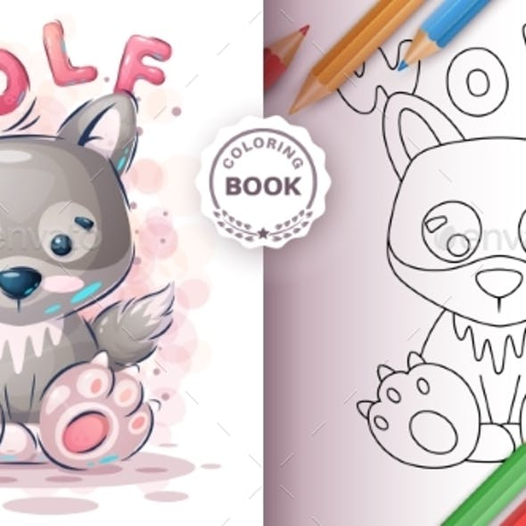Wolf - Coloring Book for Kid and Children