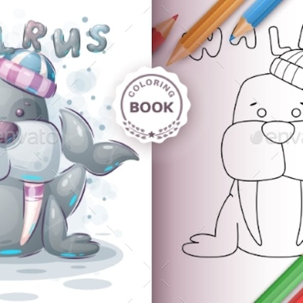 Walrus - Coloring Book for Kid