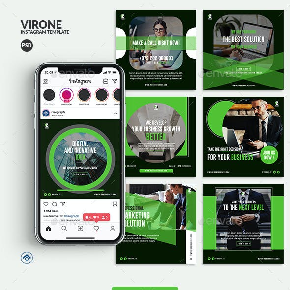 Virone - Marketing Business Instagram Post Template