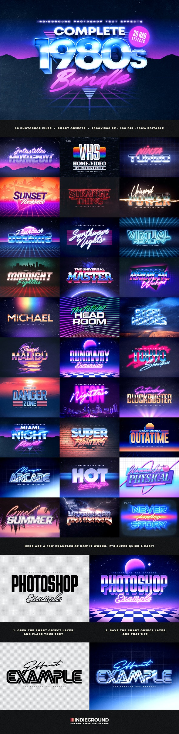 80s Text Effects Complete Bundle - Text Effects Actions