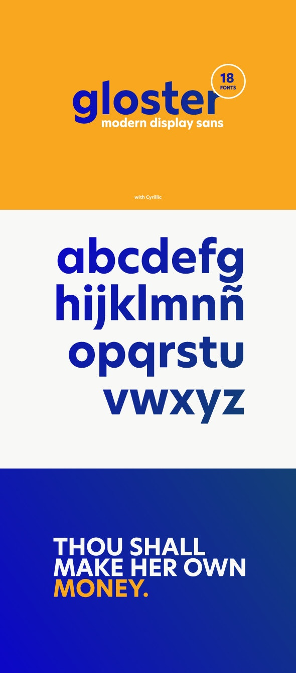 Gloster Display Sans Font with Cyrillic - Miscellaneous Sans-Serif