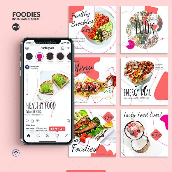 Foodies - Minimal Food Instagram Post Template