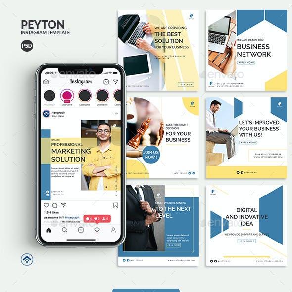 Peyton - Marketing Business Instagram Post Template