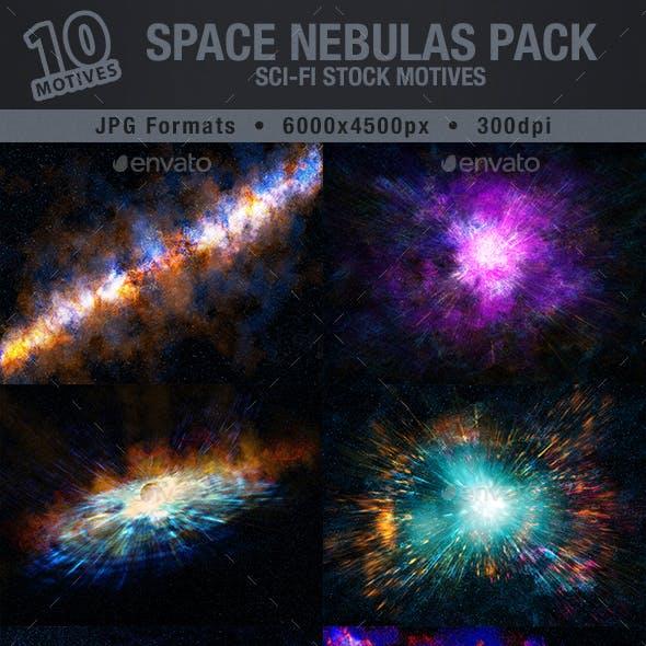 SPACE NEBULAS PACK | Sci-Fi Stock Motives