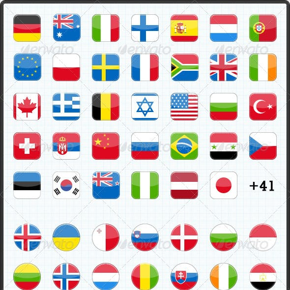 75 Flags Icons