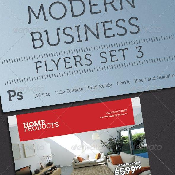 Modern Business Flyers Set 3
