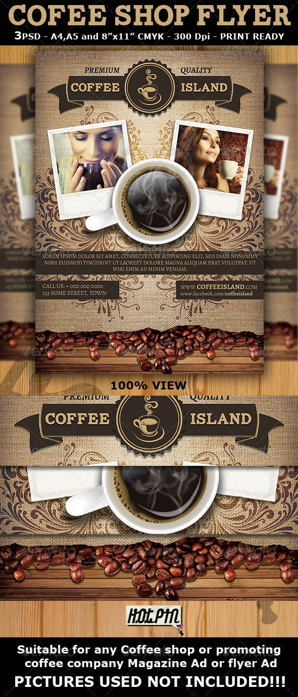Coffee Shop Magazine ad or Flyer Template - Miscellaneous Events