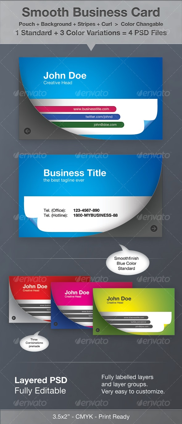Smooth Business Card - Corporate Business Cards