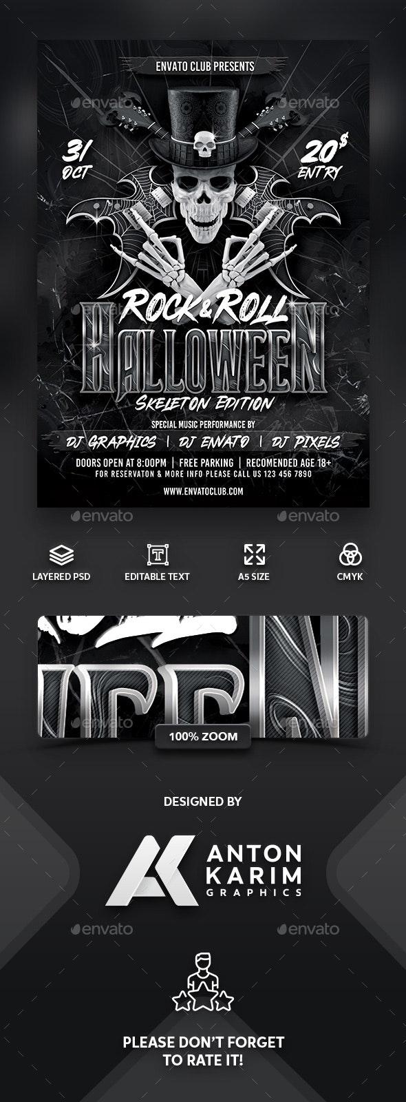 Rock & Roll Halloween Skeleton Version - Holidays Events