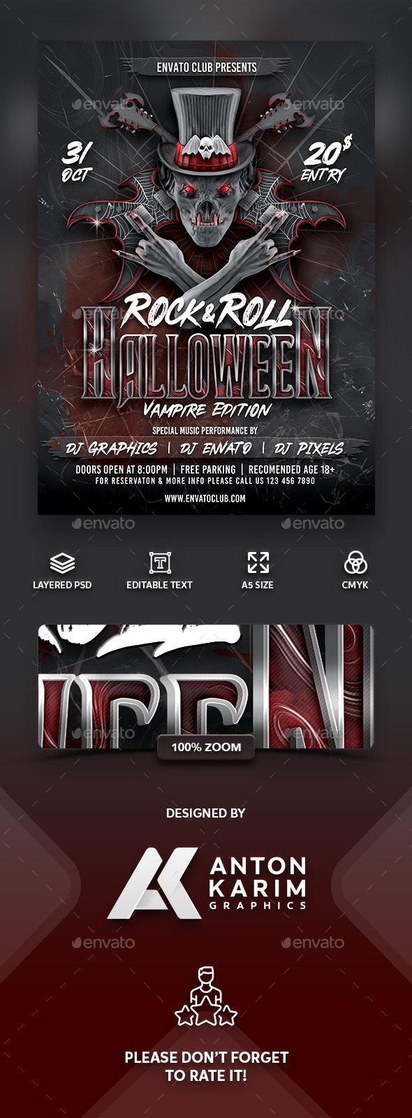 Rock & Roll Halloween Vampire Version - Holidays Events