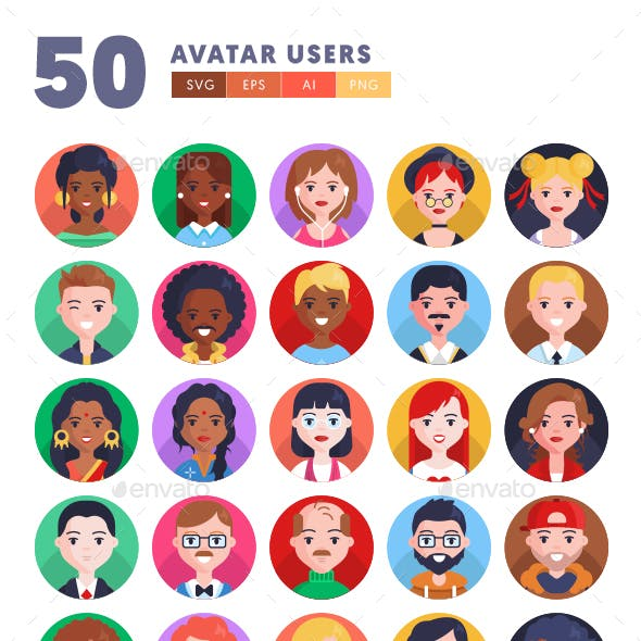 50 Avatar Users Icons