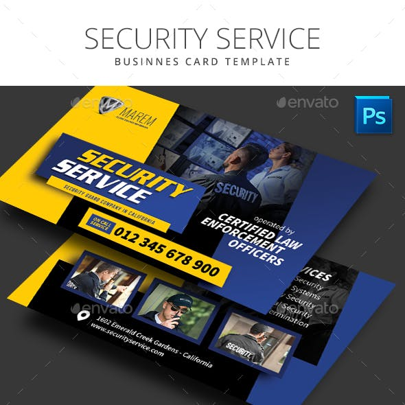 Security Service Business Card