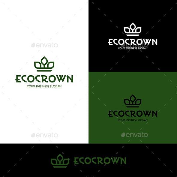 Eco Crown Minimalistic Logo