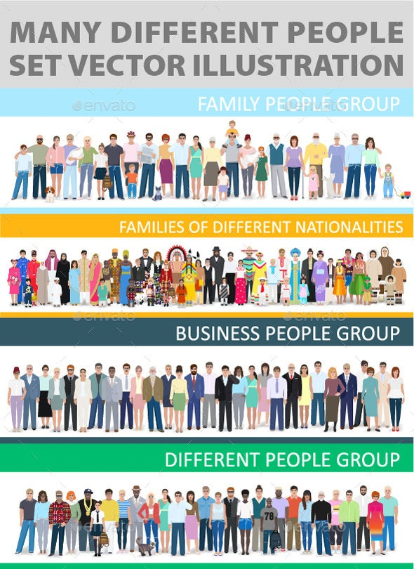 People's Companies, Business, Family, Group Nationality. - People Characters