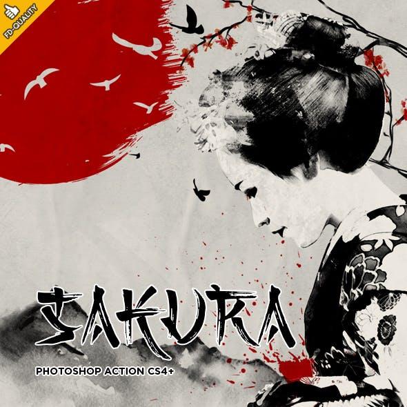 Sakura CS4+ Photoshop Action