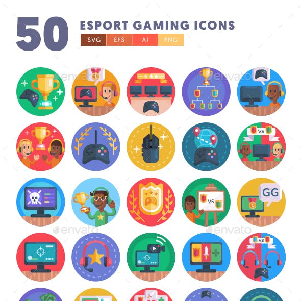 50 Esport Gaming Icons