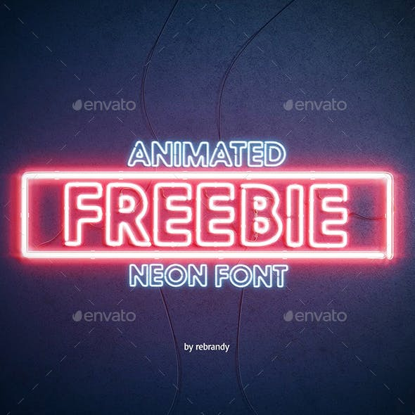 Animated Neon Font