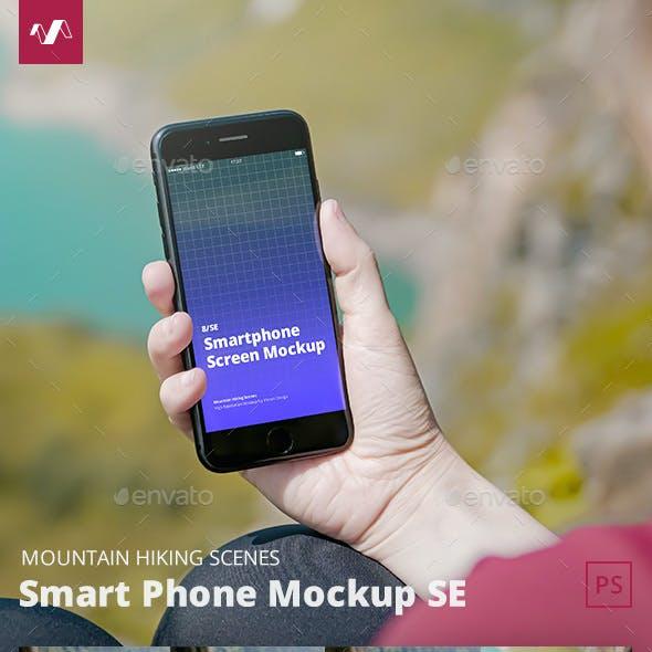 Phone Mockup SE Mountain Hiking Scenes