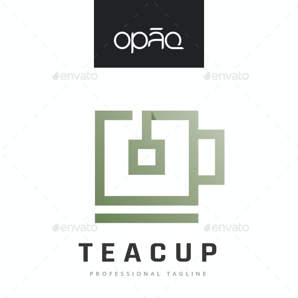 Square Tea Cup Logo