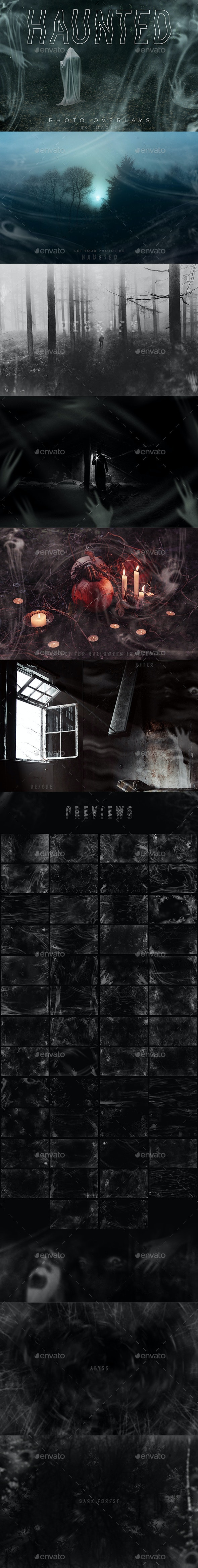 Haunted Photo Overlays - Seasonal Photo Templates