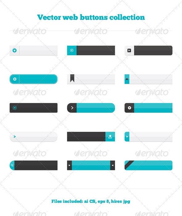 Web Button Collection - Web Elements Vectors