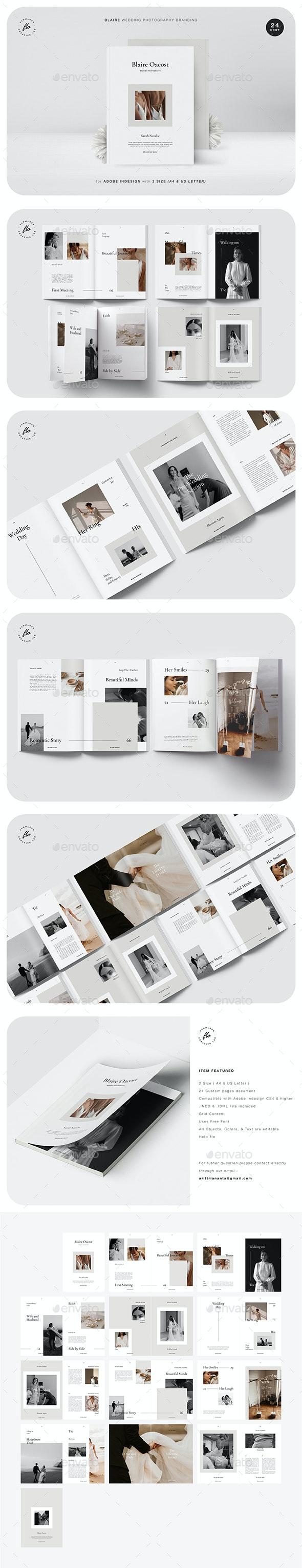 Blaire Wedding Photography Branding - Magazines Print Templates