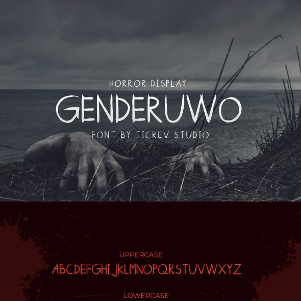 Genderuwo-Horror Display Font