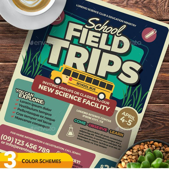 Field Trip Flyer Templates
