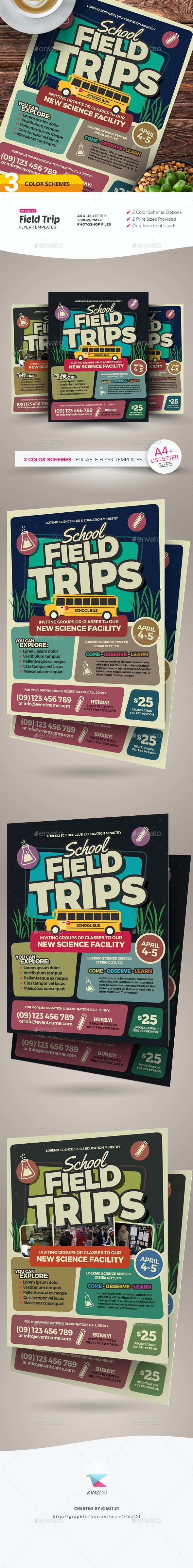 Field Trip Flyer Templates