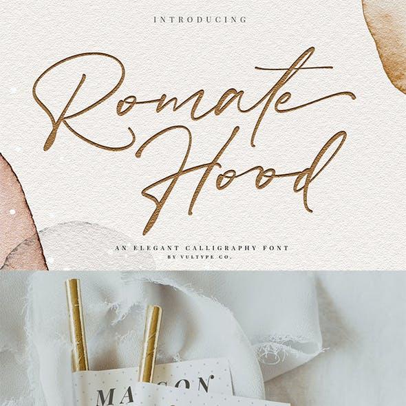 Romate Hood - Wedding Script Font