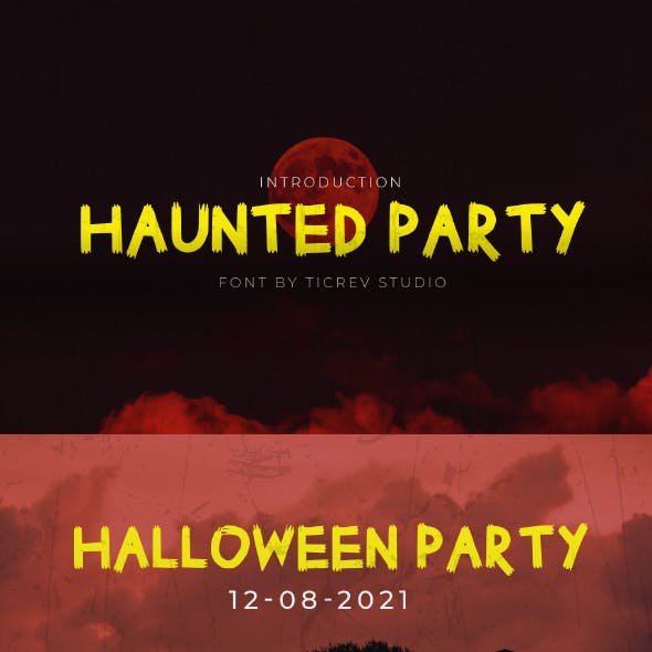 Haunted Party - Horror Display Font