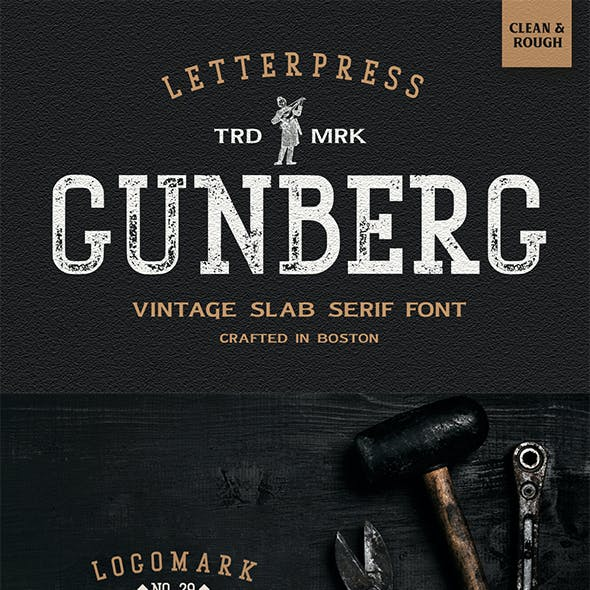 Gunberg - Modern Vintage Font