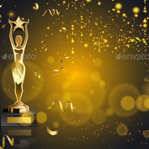 Figurine Award Realistic Background