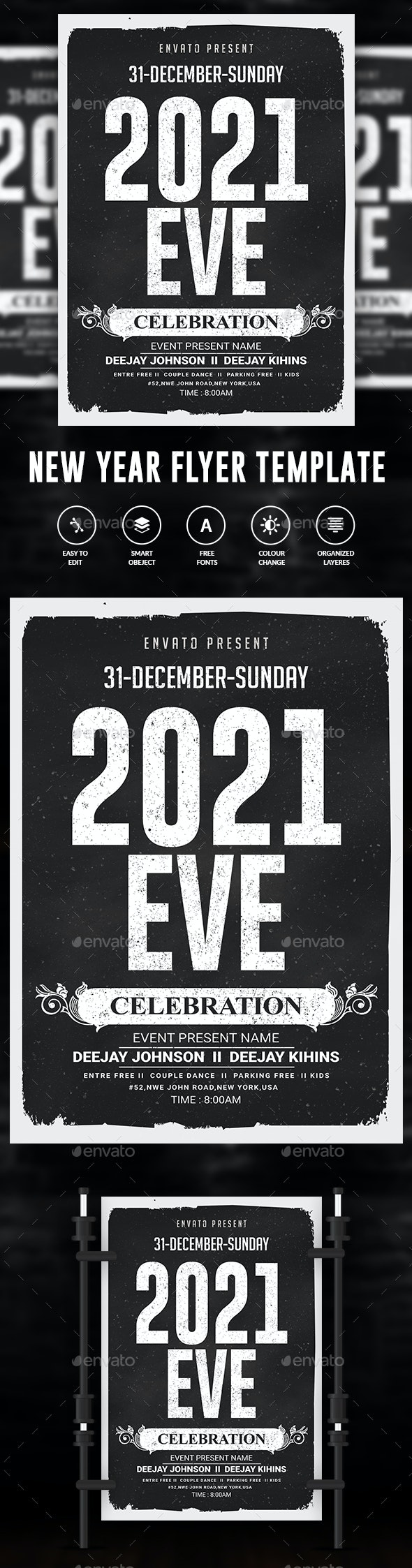 New Year Eve Party Flyer Template - Events Flyers