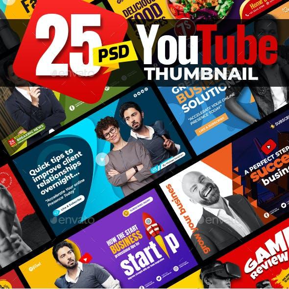 25-Youtube Thumbnail Templates
